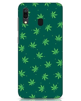Shop Leaf Pattern Samsung Galaxy A30 Mobile Cover-Front
