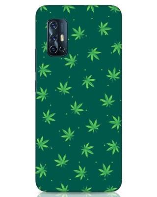 Shop Leaf Pattern Vivo V17 Mobile Cover-Front