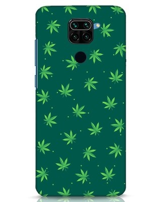 Shop Leaf Pattern Xiaomi Redmi Note 9 Mobile Cover-Front