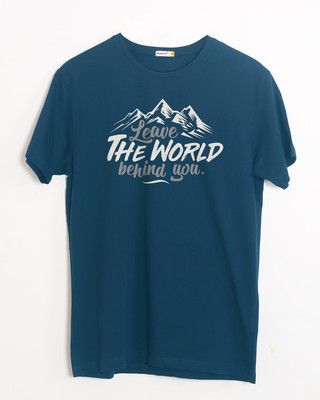 Shop Leave The World Half Sleeve T-Shirt-Front