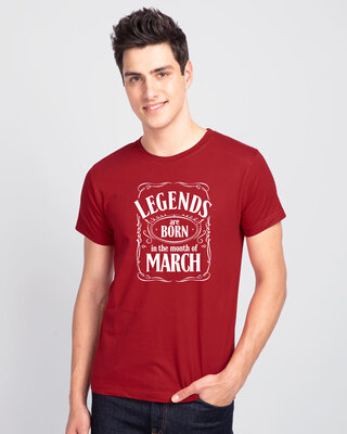 Shop Legend Daniels March Half Sleeve T-Shirt-Front