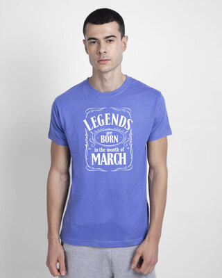 Shop Legend Daniels March Half Sleeve T-Shirt-Blue Haze-Front