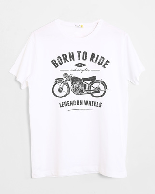 Shop Legend On Wheels Half Sleeve T-Shirt-Front