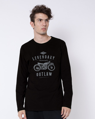 Shop Legendary Outlaw Full Sleeve T-Shirt-Front