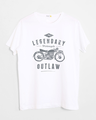 Shop Legendary Outlaw Half Sleeve T-Shirt-Front