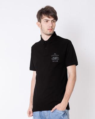 Shop Legendary Outlaw Pique Polo T-Shirt-Front