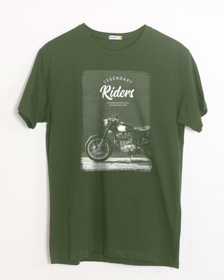 Shop Legendary Riders Half Sleeve T-Shirt-Front