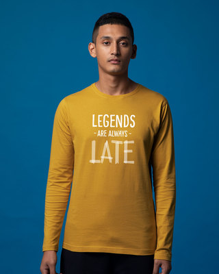 Shop Legends Are Late Full Sleeve T-Shirt-Front