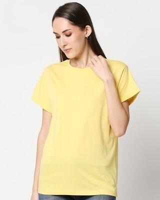 Shop Lemon Drop Boyfriend T-Shirt-Front