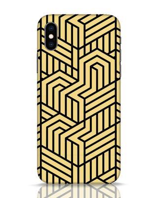 Shop Lemon Drop Pattern iPhone XS Mobile Cover-Front