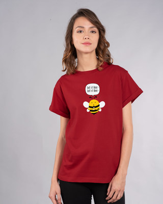 Shop Let It Beee Boyfriend T-Shirt-Front