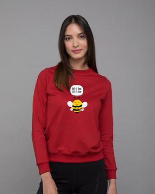 Shop Let It Beee Fleece Sweater-Front