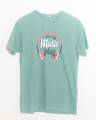 Shop Let It Play Headphones Half Sleeve T-Shirt-Front
