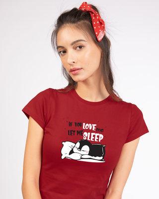 Shop Let Me Sleep Penguin Half Sleeve T-Shirt-Front