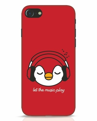 Shop Let The Music Play iPhone 8 Mobile Cover-Front