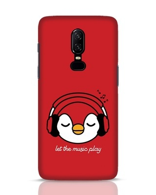 Shop Let The Music Play OnePlus 6 Mobile Cover-Front