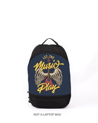 Shop Let The Music Play Small Backpack-Front
