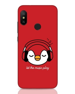 Shop Let The Music Play Xiaomi Redmi Note 6 Pro Mobile Cover-Front