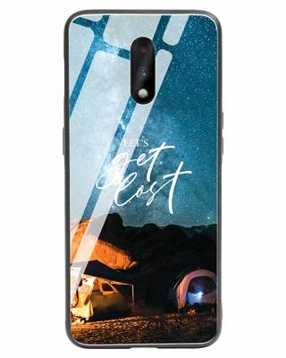 Shop Lets Get Lost Space OnePlus 7 Glass Mobile Cover-Front