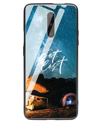 Shop Lets Get Lost Space OnePlus 7 Pro Glass Mobile Cover-Front