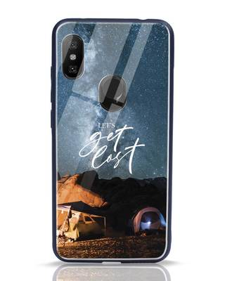 Shop Lets Get Lost Space Xiaomi Redmi Note 6 Pro Glass Mobile Cover-Front