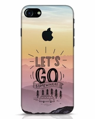 Shop Lets Go Somewhere iPhone 7 Logo Cut Mobile Cover-Front