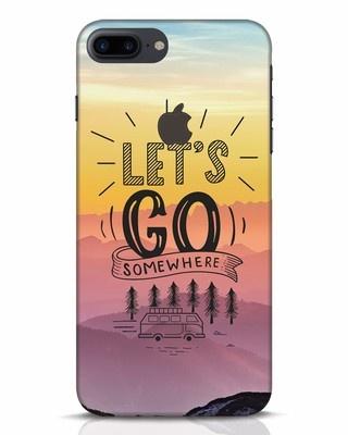 Shop Lets Go Somewhere iPhone 7 Plus Logo Cut Mobile Cover-Front