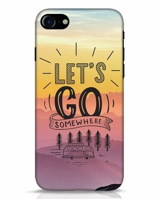 Shop Lets Go Somewhere iPhone 8 Mobile Cover-Front