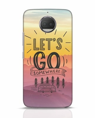 Shop Lets Go Somewhere Moto G5s Plus Mobile Cover-Front