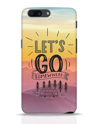Shop Lets Go Somewhere OnePlus 5 Mobile Cover-Front