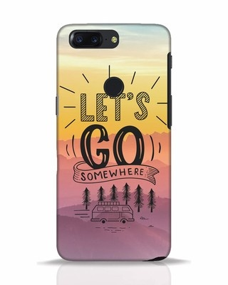 Shop Lets Go Somewhere OnePlus 5T Mobile Cover-Front