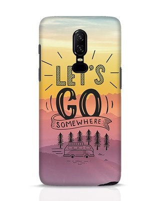 Shop Lets Go Somewhere OnePlus 6 Mobile Cover-Front
