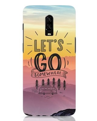 Shop Lets Go Somewhere OnePlus 6T Mobile Cover-Front