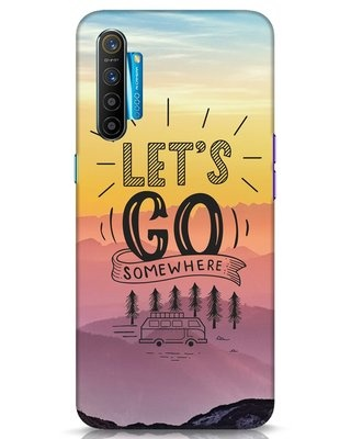 Shop Lets Go Somewhere Realme XT Mobile Cover-Front