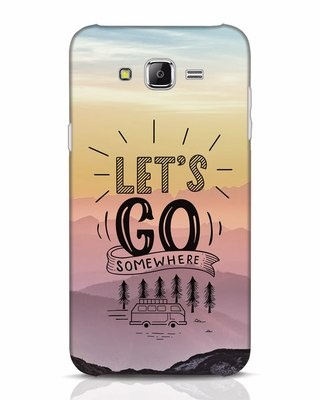 Shop Lets Go Somewhere Samsung Galaxy J7 Mobile Cover-Front
