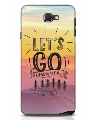Shop Lets Go Somewhere Samsung Galaxy J7 Prime Mobile Cover-Front