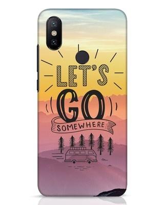 Shop Lets Go Somewhere Xiaomi Mi A2 Mobile Cover-Front