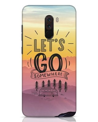 Shop Lets Go Somewhere Xiaomi POCO F1 Mobile Cover-Front
