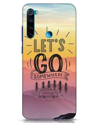 Shop Lets Go Somewhere Xiaomi Redmi Note 8 Mobile Cover-Front