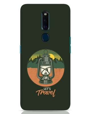 Shop Lets Travel Lantern Oppo F11 Pro Mobile Cover-Front