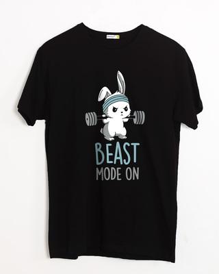 Shop Lift Like A Beast Half Sleeve T-Shirt-Front