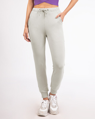 Shop Light Grey Casual Jogger Pant-Front