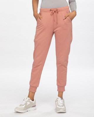 Shop Light Pink Casual Jogger Pants-Front