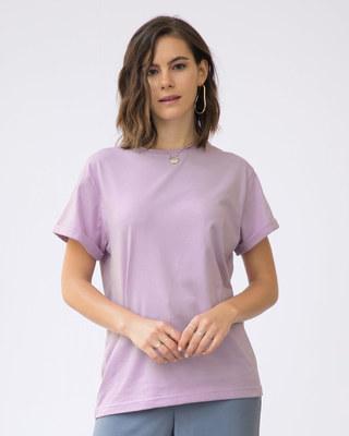 Shop Lilac Breeze Boyfriend T-Shirt-Front