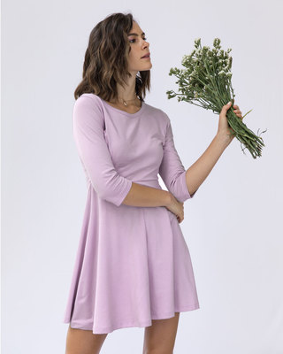 Shop Lilac Breeze Flared Dress-Front
