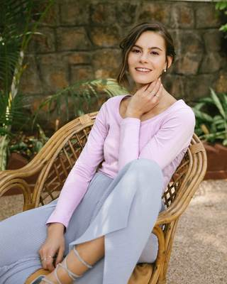 Shop Lilac Breeze Scoop Neck Full Sleeve T-Shirt-Front