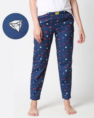 Shop Lipstick & Heels ! All Over Printed Pyjama-Front