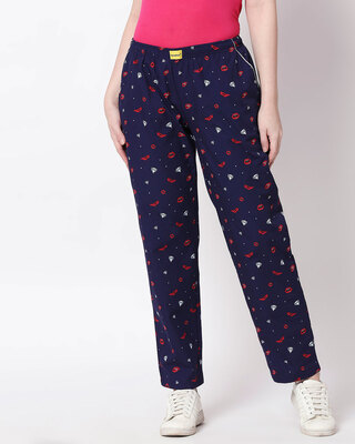 Shop Lipstick & Heels All Over Printed Pyjama-Front