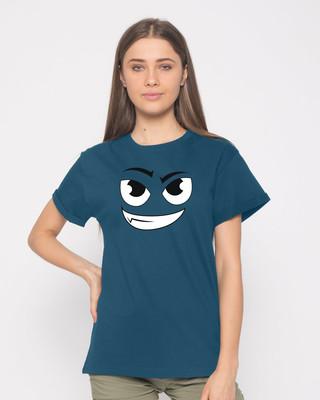 Shop Little Devil Boyfriend T-Shirt-Front