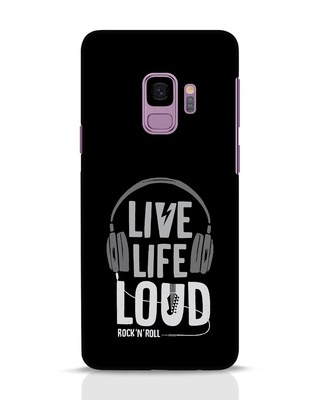 Shop Live Life Loud Samsung Galaxy S9 Mobile Cover-Front